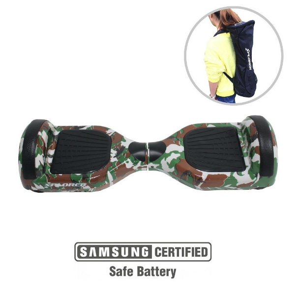"Hoverboard City 6,5"" camouflage green v2 - Xplorer"