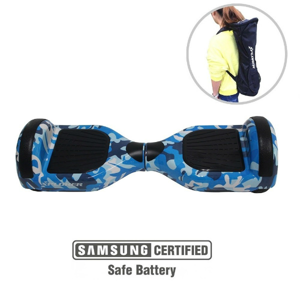 "Hoverboard City 6,5"" camouflage blue v2 - Xplorer"
