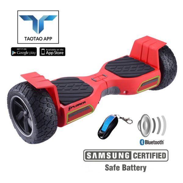 "Hoverboard Hummer V2 Red 8.5"" - Xplorer"